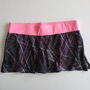 Nike Dri Fit Active Skirt Black Pink Large